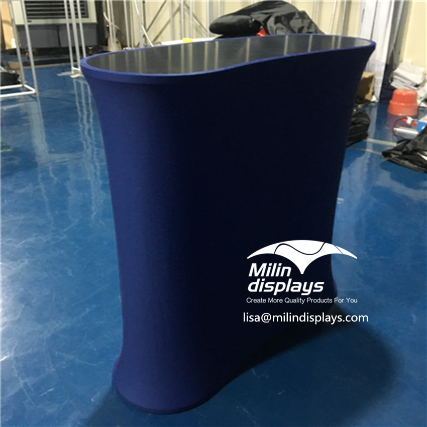 2020 New Arrival Curved Advertising aluminum Foldable table counter top display for Trade <strong>Show</strong>