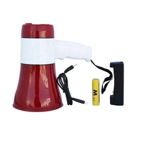 619U megaphone Rechargeable Battery Powered rechargeable Megaphone with Siren USB TF 240 RECORD SMALL MINI