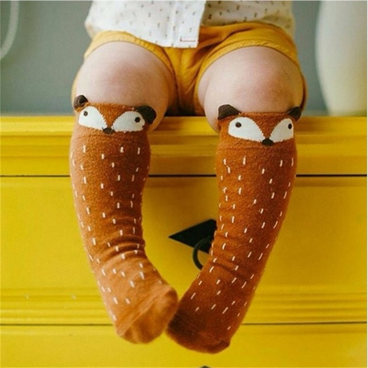 Unisex Cute Cartoon Kids baby Girl Boy Toddler Knee Socks animal infant Soft Cotton socks 0-<strong>3</strong> <strong>Y</strong>