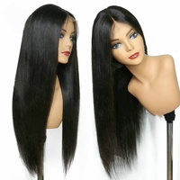 Cheap Wholesale 100% Natural Human Hair Lace Wigs, Brazilian Human Hair Lace Front Wigs For Black Women