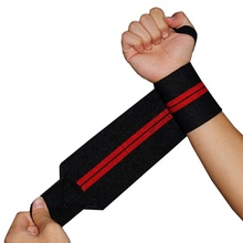 63*8cm/customizable Exercise training weight lifting wrist wrap band brace fitness gym elastic wrist strap