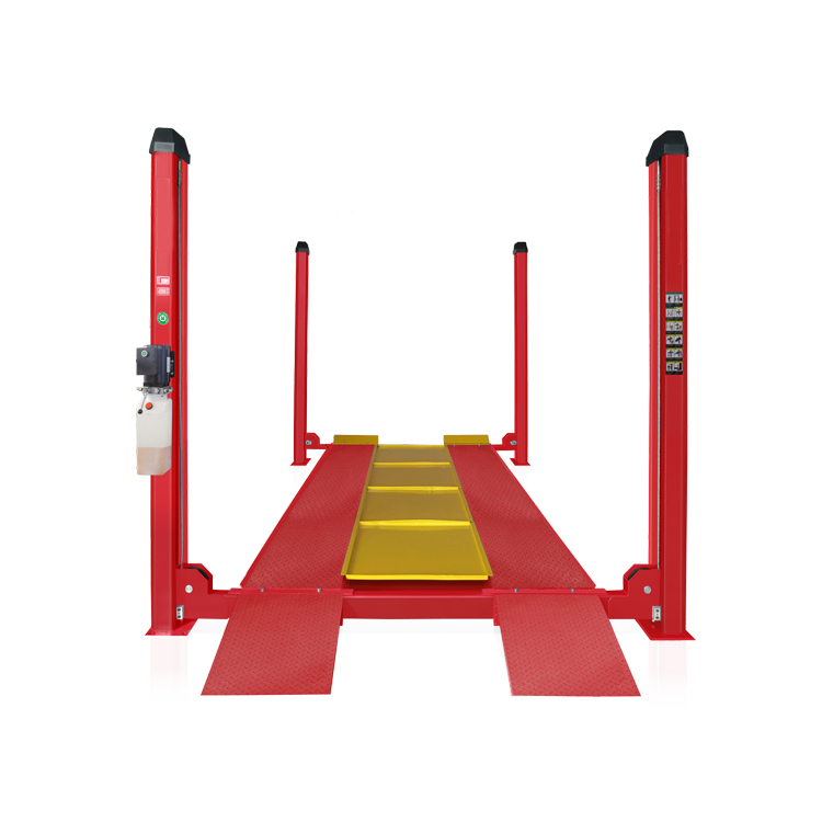 High Performance automatic car ramps hydraulic electric column 4 pole lift