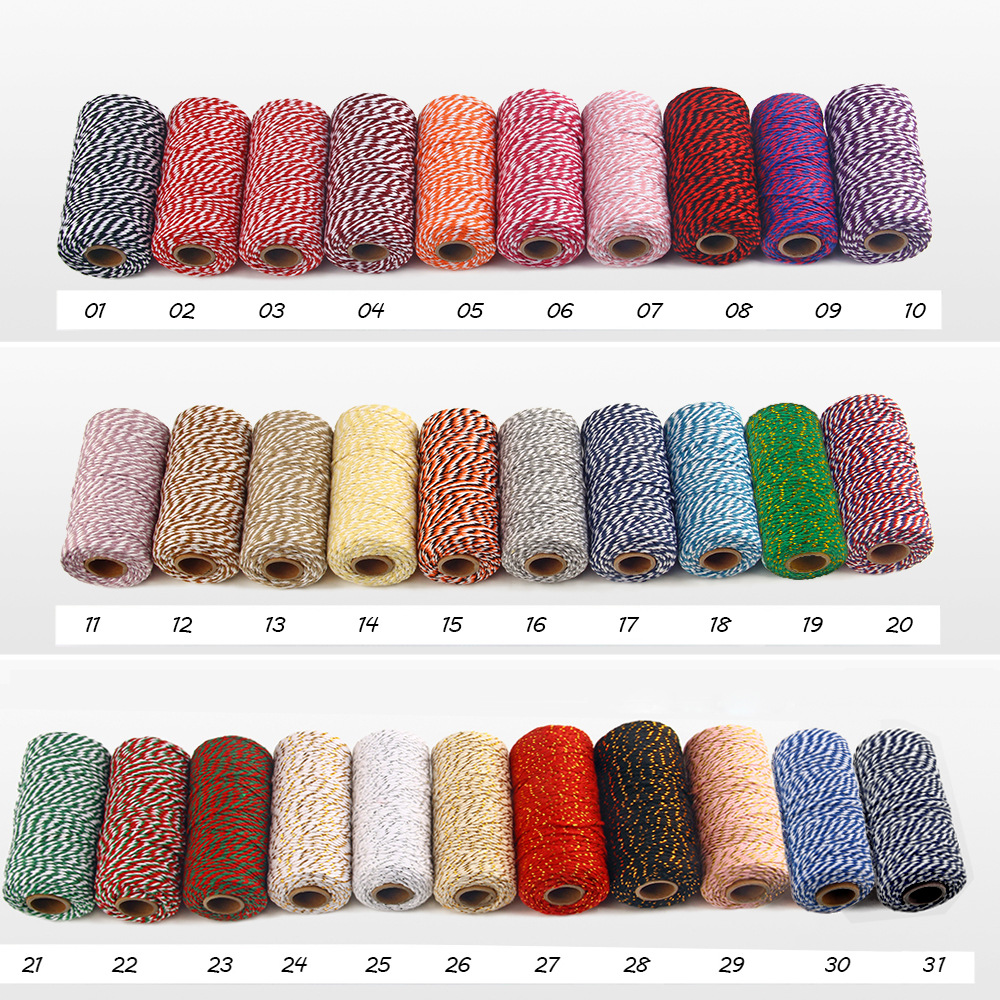 Wholesale Cotton Rope String Colour Cheap Custom 2 Color Macrame Cord