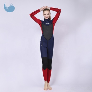 2019 hot selling women 3mm neoprene long full body surfing diving wetsuit