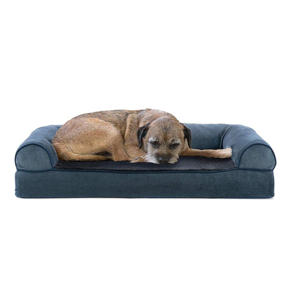 Pet dog bed / orthopaedic sofa style traditional living room sofa pet bed <strong>w</strong> / dog and cat removable bedspread