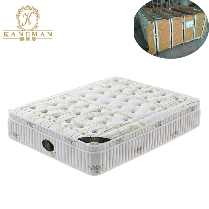 10 inch wholesale cheap price bamboo fabric euro top spring mattress - Jozy Mattress | Jozy.net