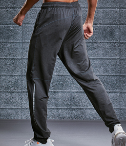 black high quality gym joggers wholesale custom polyester mens track pants