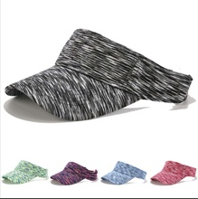 Tie- dye visor hat knitted <strong>fabric</strong> outdoor golf sun protection hat visor cap