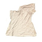 Waste cloth cut pieces industrial cotton rags white t-shirt rags