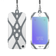 Grey Silicone Case <strong>phone</strong> lanyard for iphone 11