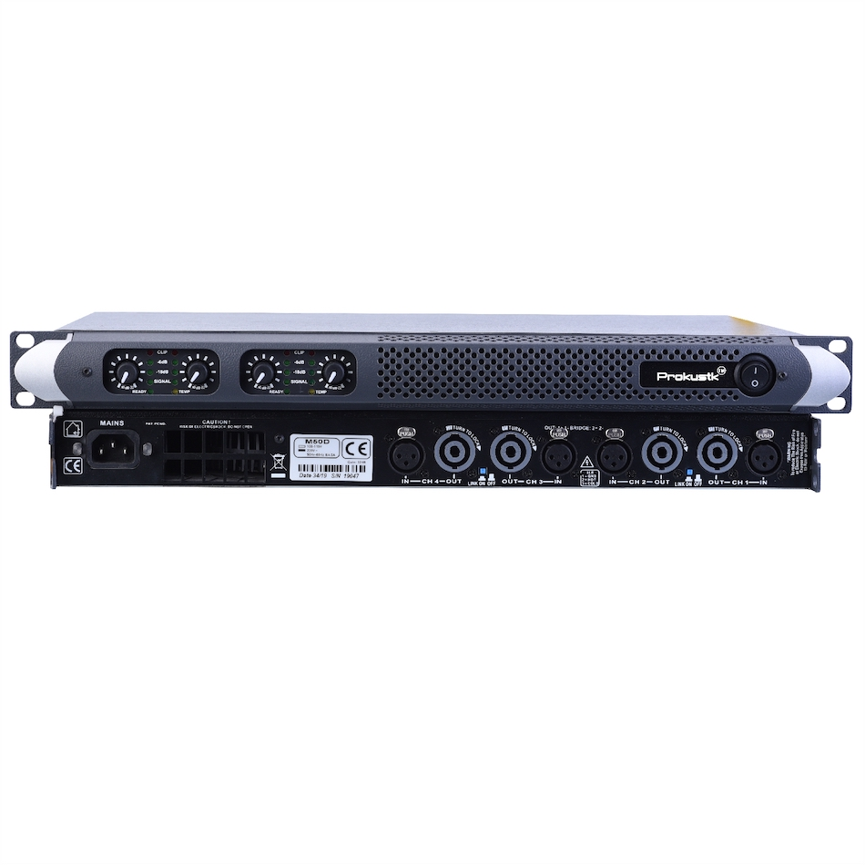 4 channel 750 Watts at 8ohm Class <strong>D</strong> 1U Professional power amplifier DJ Subwoofer poweramp PA Stage Prokustk M50D