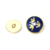 Wholesale round Shape gold Shank Loop Buttons Metal Sewing Button for uniform