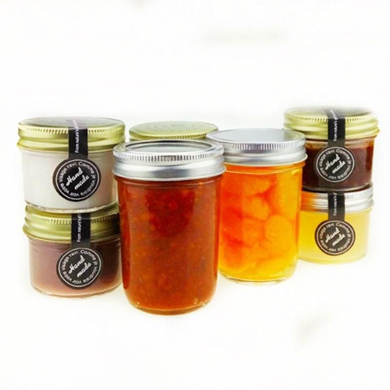 21 personnalisé de confitures chutney préserver bougie pot bocal en verre les étiquettes des produits