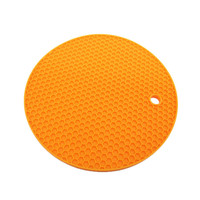 Benhaida Christmas Promotions cute honeycomb trivet mat silicone rubber kitchen drying mat