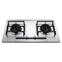 304 stainless steel cooking appliance gas hob with 2 burner