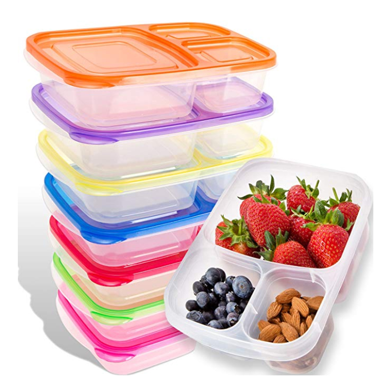 BPA free3 compartment <strong>Plastic</strong> food meal prep lunch box bento container/tiffin box lunch