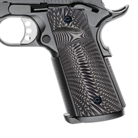 G10 Gun Grips Full size 1911 holster for Colt 1911, Sunburst texture with Magwell cut
