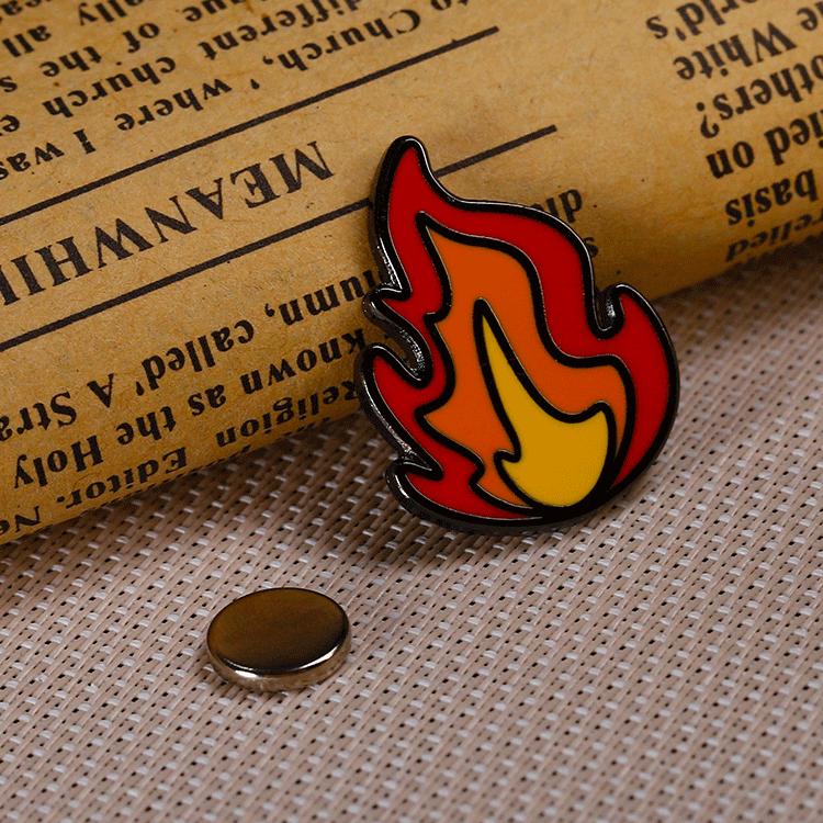 Wholesale cheap metal hard enamel pins custom with magnetic badge