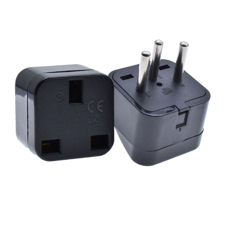 Switzerland Swiss power socket adapter AC250V10A black color UK to type <strong>J</strong> convert electric plug adapter