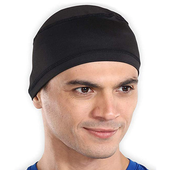 Sweat Wicking Cap Beanie Helmet Liner for Cycling Accessories Adjustable Bandana Head Wrap That Fits Perfectly for Men