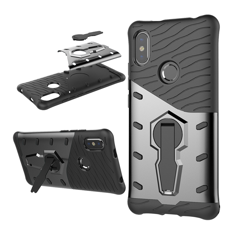 Manufacturer wholesale kickstand phone case for xiaomi redmi s2 for redmi <strong>y2</strong> for sniper free sample for PTU + PC