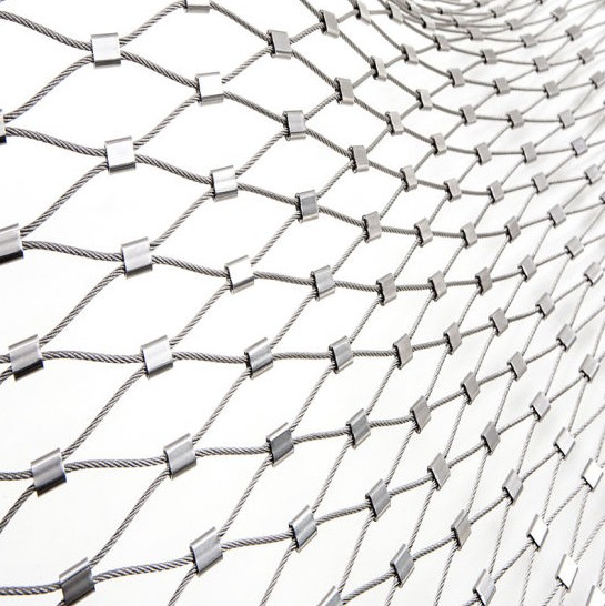 China Manufacturer high quality 304 316L stainless steel metal wire rope <strong>mesh</strong> For protection animal zoo wire <strong>mesh</strong>