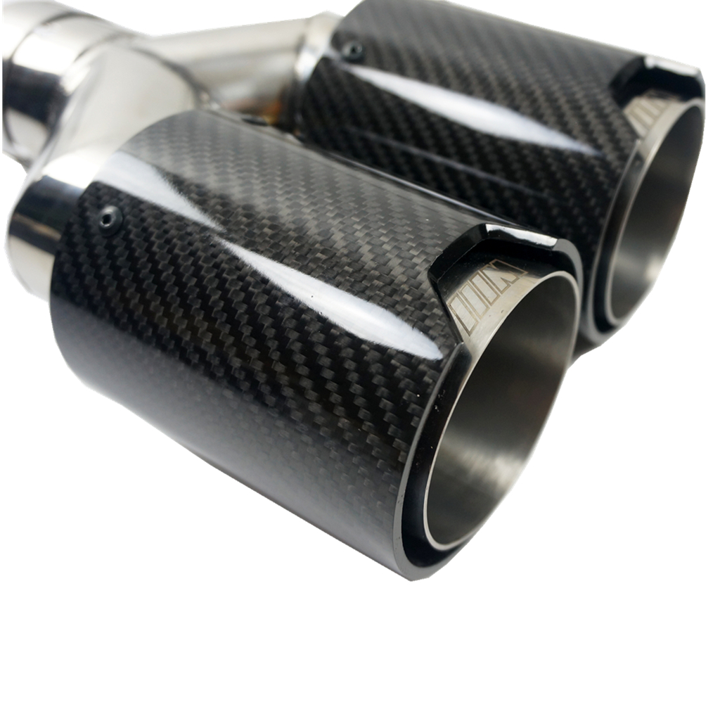 <strong>Y</strong> type 2 tips universal carbon fiber exhaust tips tail for bmw