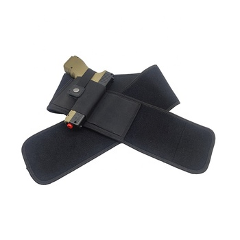 Right hand tactical belly band waist quick draw gun holster for concealed carry glock beretta