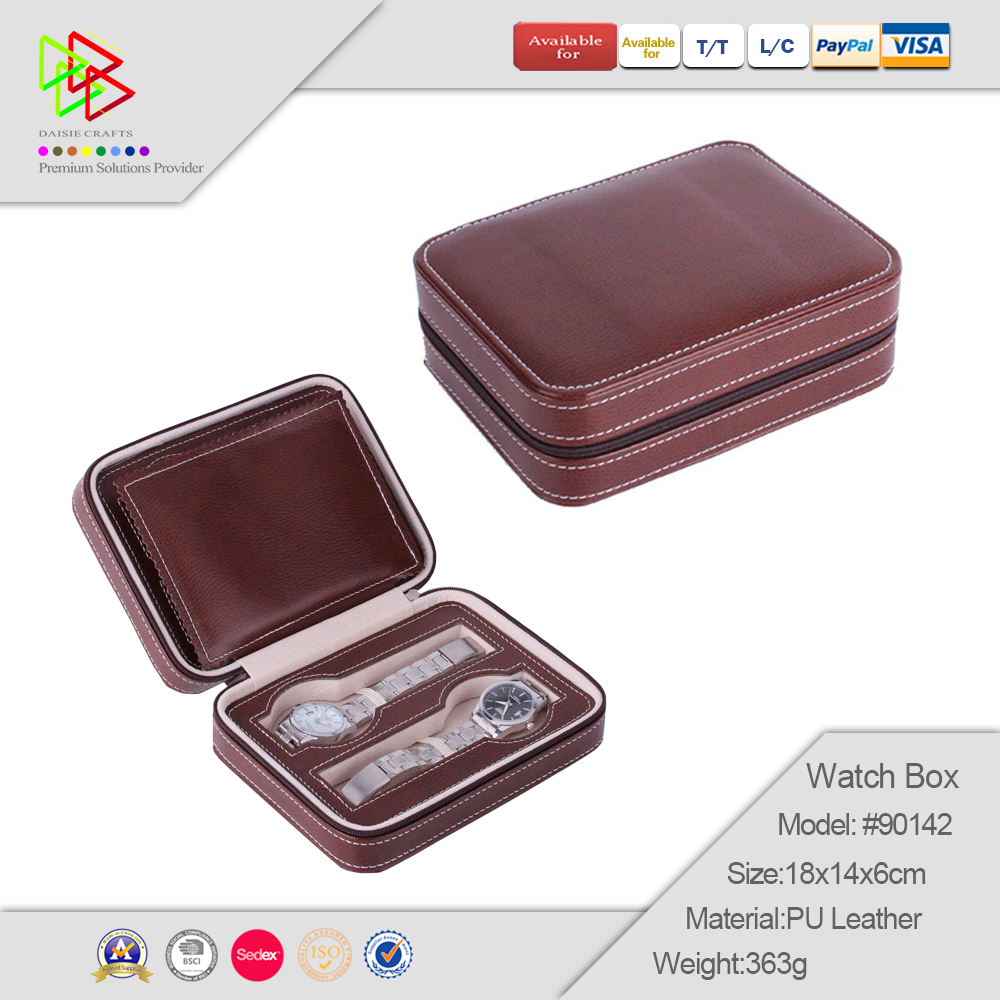 Modern Brown Custom PU Leather For Men Luxury Watch Box