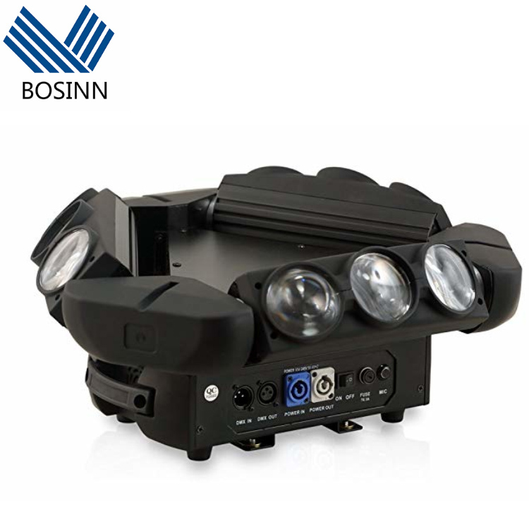 Spider Moving Head Light, DT <strong>Lighting</strong> 9 Leds Heads 10W RGB Stage <strong>Lighting</strong> Effect 12/19 Channels DMX-512 <strong>control</strong>