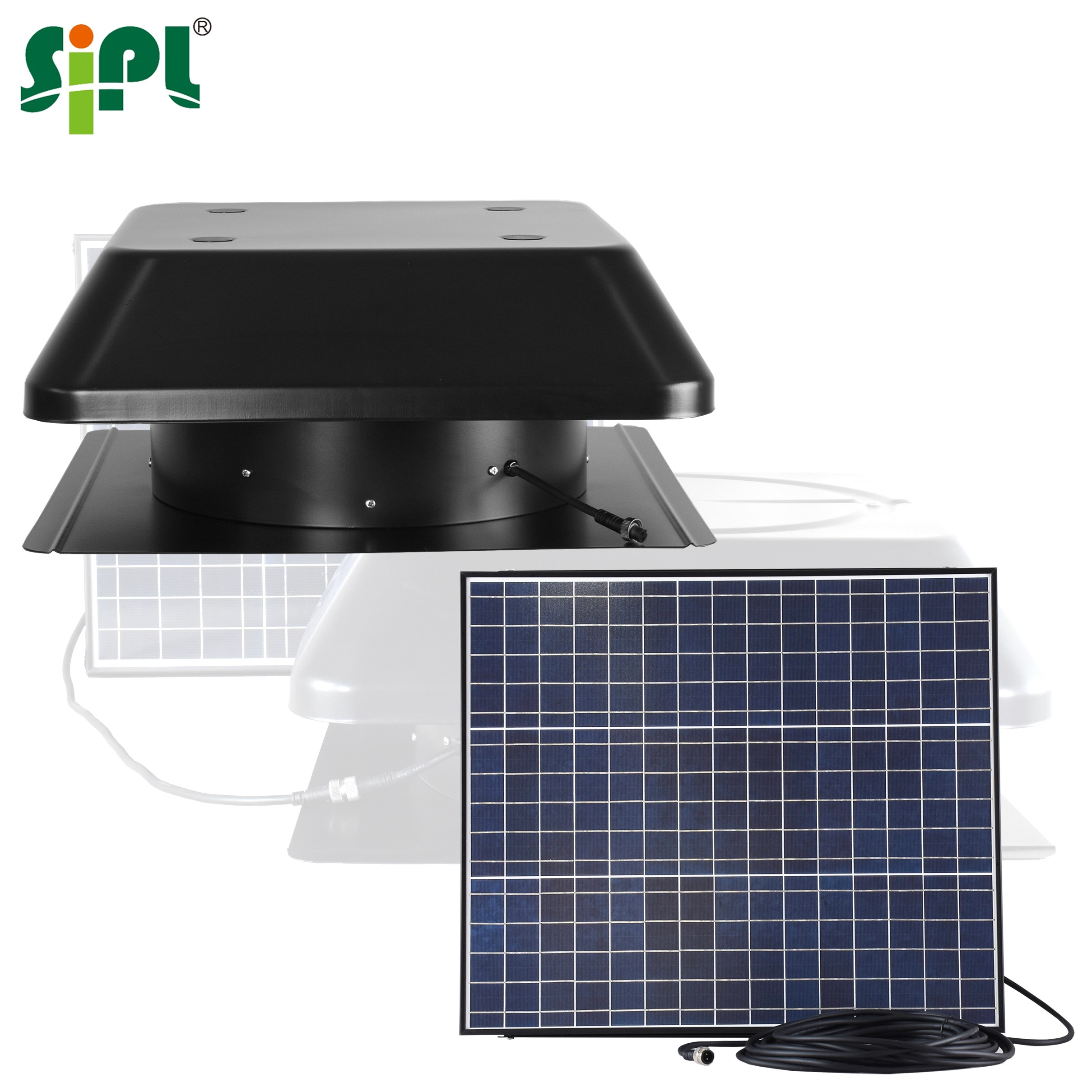 Eco Solar Vent Tools Sunlight Power Heat Extractor Smoke Fan 50W Roof <strong>Turbine</strong> <strong>Wind</strong> Blower Attic Gable Basement Ventilation Fan