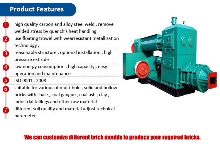Yuanhang featured machinery supplier vacuum extruder Hollow Clay Brick Making Machine