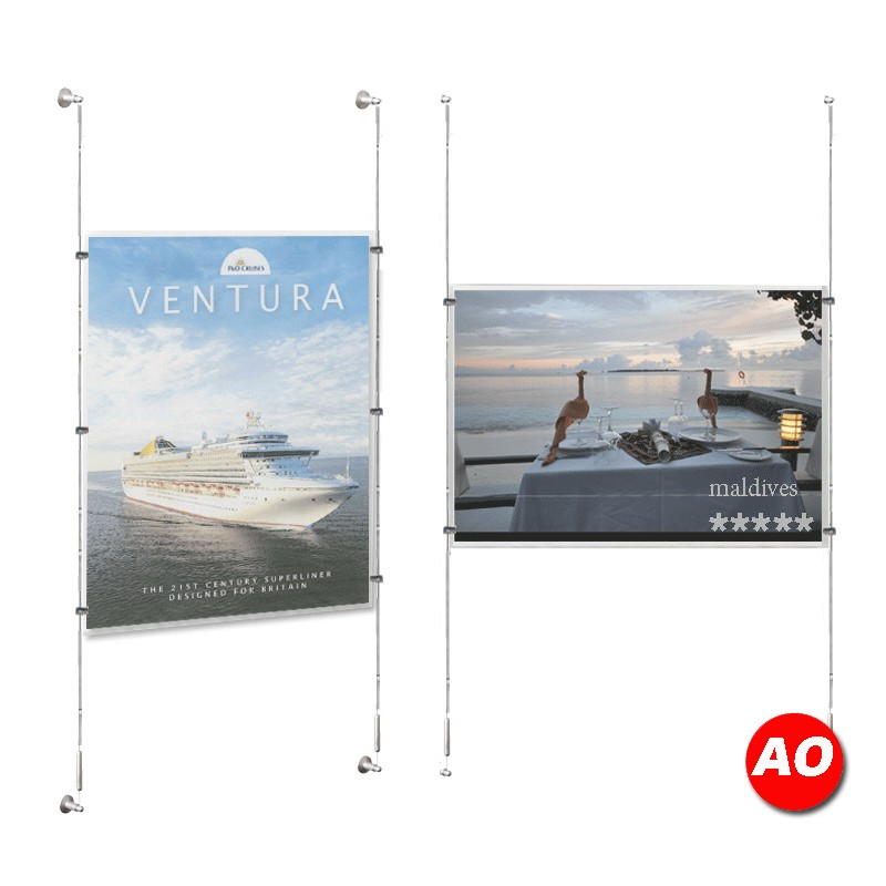 glamdisplay Point of Sale <strong>Displays</strong> Poster Frames acrylic Store Window <strong>Displays</strong> <strong>A0</strong> Poster Holder Kit