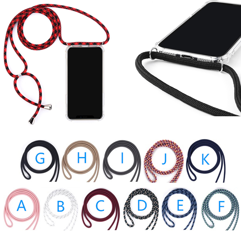Handy rope cord smartphone chain strap necklace crossbody mobile cell phone case with lanyard for iphone 7 8 plus X XR XS MAX <strong>11</strong>