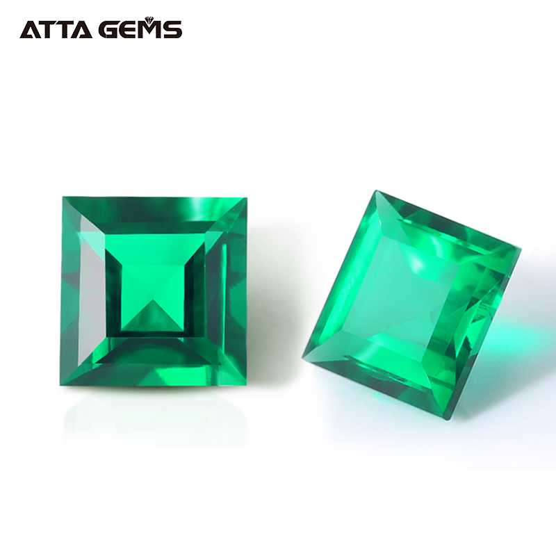 Synthetic Emerald Square Princess <strong>Cut</strong> 5*5 mm 0.6 carat Emerald Zambian Emerald Stones for Sale