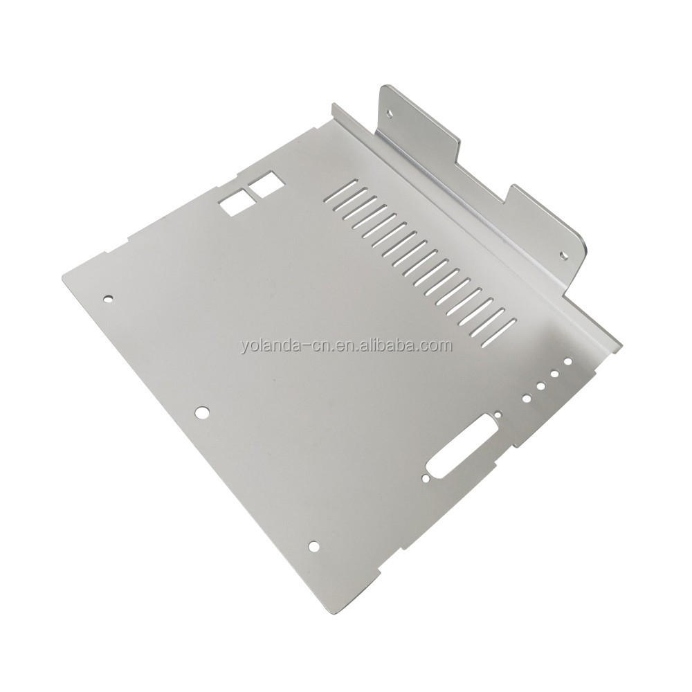 OEM Factory Manufactured Custom Silver Anodizing Aluminum Precision Stamping Punching Bending Telecommunication Equipment Part