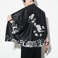 Men's hip hop street shirt men's Japanese kimono men's shirt