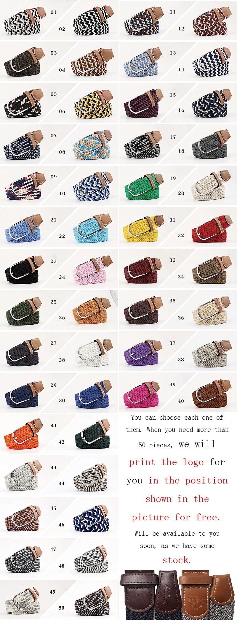 Hot selling cheapest price custom woven mens  elastic belt fabric braided belts