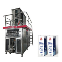 Beverages UHT Milk Aseptic Brick Carton Filling And Packaging Machine Equipments 125,200,250,1000ml