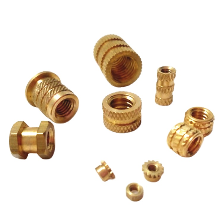 China manufacturer round threaded brass insert cnc nuts blind 8mm knurled nut m3 m4 m6 m8 m10 42mm brass thread insert nut