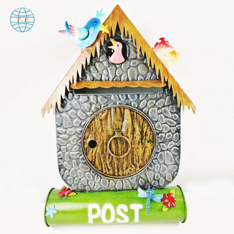 Wholesale sale cock letterbox pastoral style cheap metal mailbox