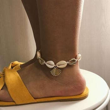Handmade Bohemian Shell Alloy Scallop Romantic Classic Charm Anklet For Women