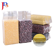 Moisture Proof Plastic Printing Clear Transparent Seal Side Gusset Back Food Grade Vacuum Bag For <strong>Rice</strong>