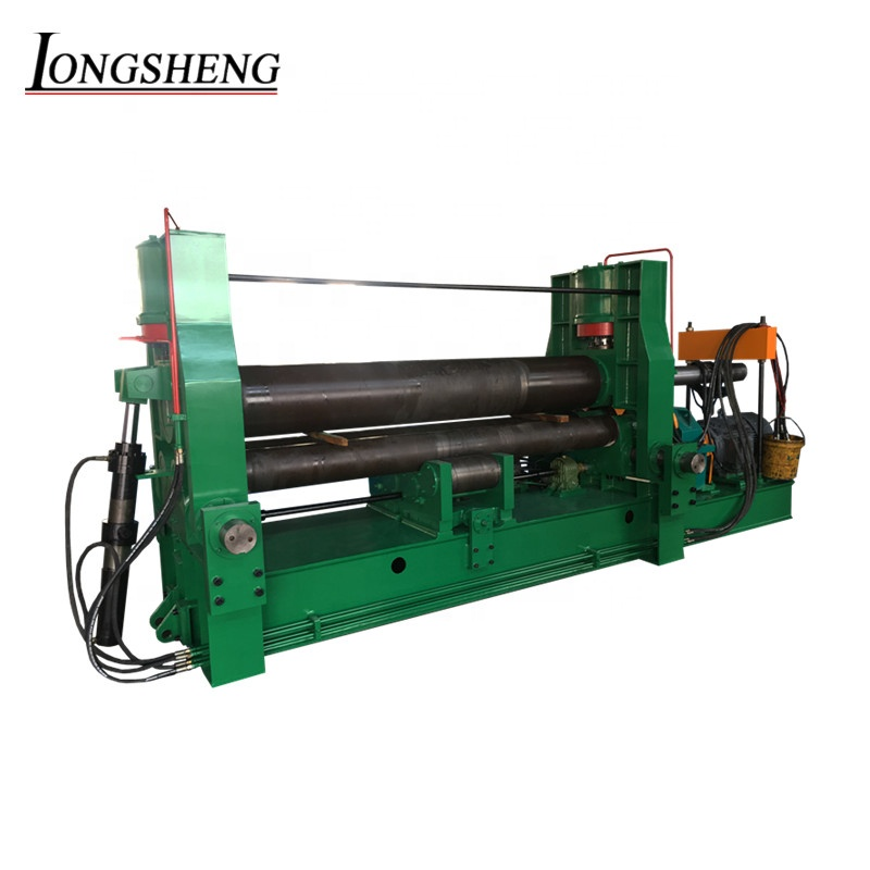 LONGSHENG <strong>W11S</strong> series 3 roller symmetrical Sheet metal slip rolling <strong>machine</strong> electric plate <strong>roll</strong> bending <strong>machine</strong>