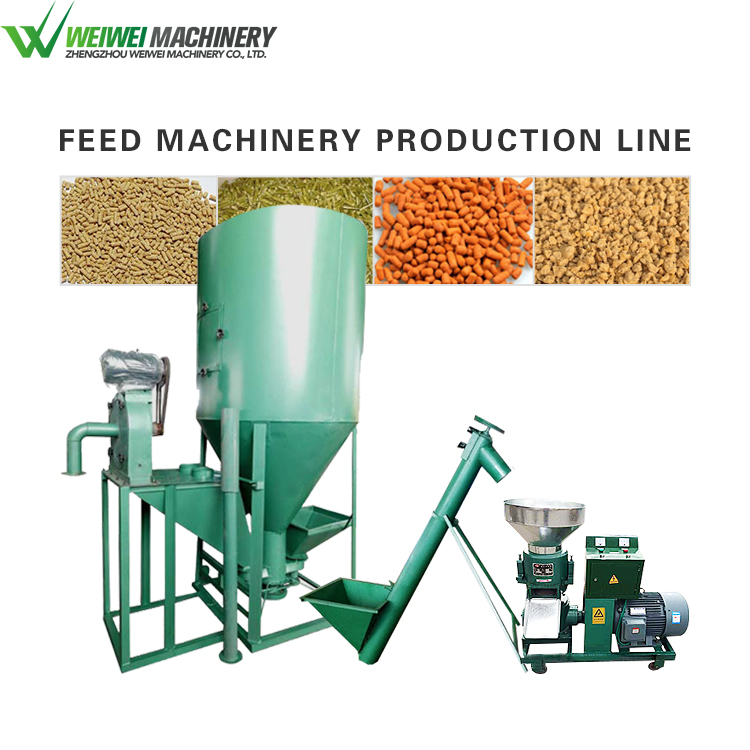 Weiwei feed making machine factory chicken powder feed production line