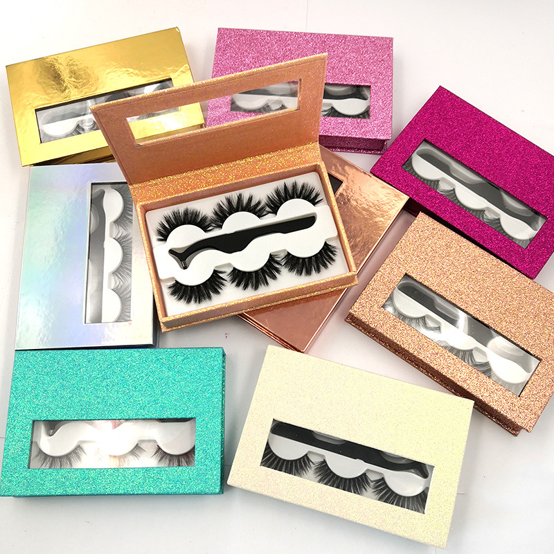 customized packaging strip false 3d mink lashes wholesale lot