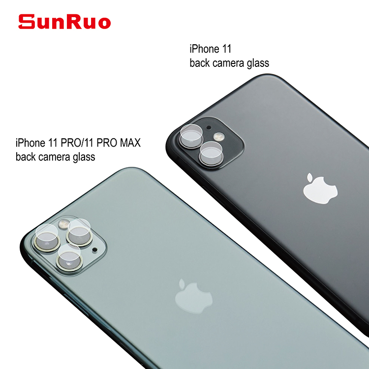 Easy 1 Time Install! for new iPhone 11/11 pro/ 11 pro max Cell Phone Camera Lens Tempered Glass Protector