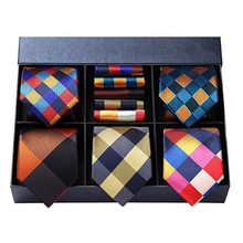 Grid necktie gift sets 100% silk jacquard woven <strong>ties</strong> wholesale neck <strong>tie</strong>