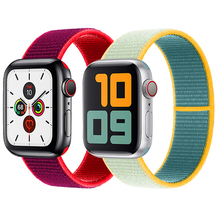 Charm Designer Bracelet Woven Nylon Loop Sport Bands For iWatch Series 5 4 Smart Luxury Apple Watch Band Strap 44mm 42mm