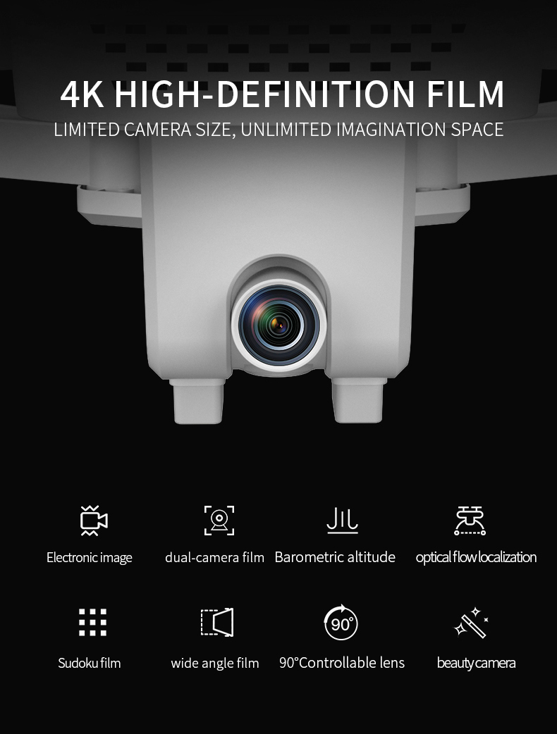 VISUO XS818 ZEN Mini Dual GPS WIFI FPV With 4K HD Electronic Anti-shake Camera Optical Flow Positioning RC Drone Quadcopter RTF